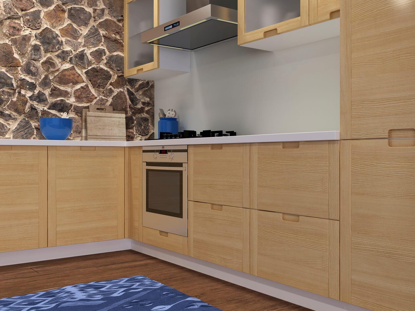 купить кухню из массива ясеня  Laiva