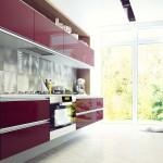 Купить кухню в Гомеле из крашенного мдф с алюминиевым профилем Alva Alu