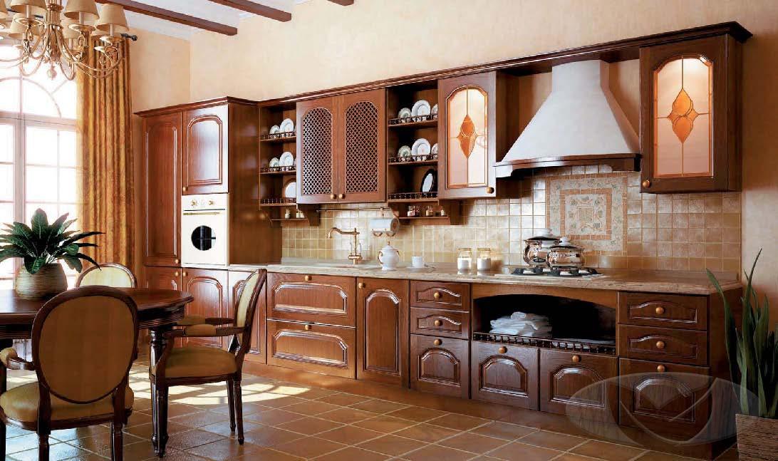 кухня в Гомеле из массива дуба lucia