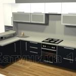 угловые кухни, Alva Matt Gloss 1