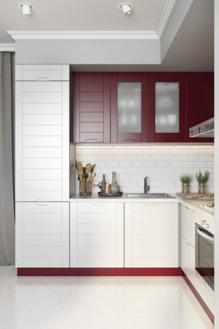 кухни в Гомеле из крашеного МДФ, Albina 3