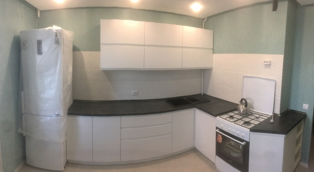 Кухня в Гомеле из крашеного МДФ Breeze 28 1