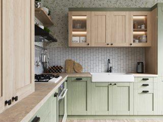 кухня в Гомеле из массива дуба Talvi
