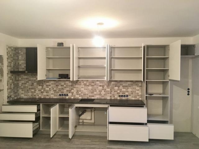 кухня из крашеного МДФ Fuxia 43.4